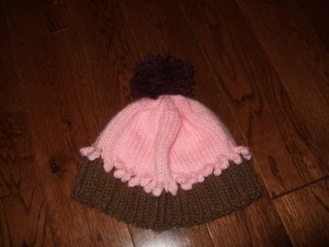 New PomPom for the Cupcake Hat